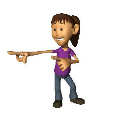Girl pointing at fun games