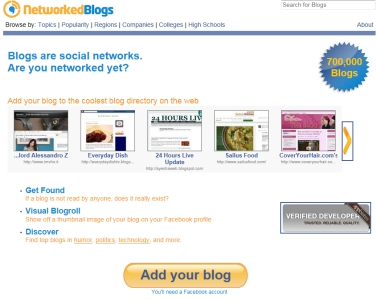Add your blog