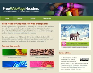 Free Web Page Headers